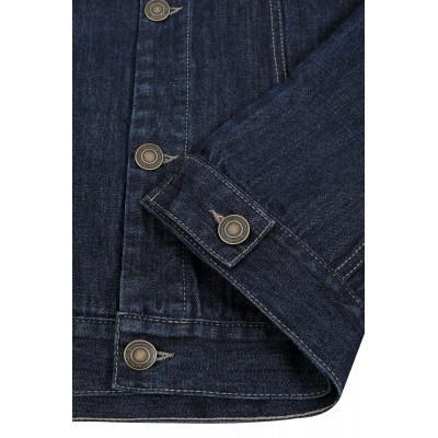 Тъмно синя дънкова яке