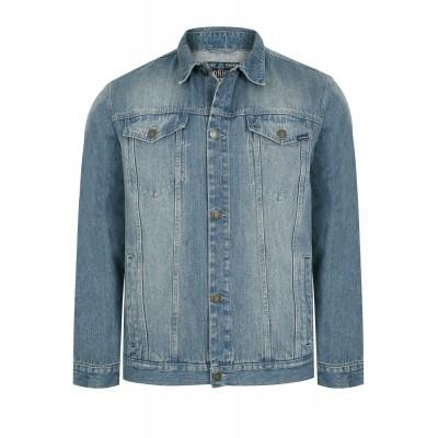 Синя дънкова яке