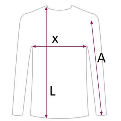 Тениска със сребърен поток